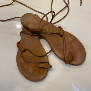 TKEES brown suede size 7 sandals
